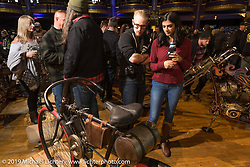 Checking out a 1903 Clement Motorcycle at the Mama Tried Show. Milwaukee, WI. USA. Saturday February 24, 2018. Photography ©2018 Michael Lichter.