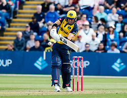 Colin Ingram of Glamorgan in action today <br /> <br /> Photographer Simon King/Replay Images<br /> <br /> Vitality Blast T20 - Round 1 - Glamorgan v Somerset - Thursday 18th July 2019 - Sophia Gardens - Cardiff<br /> <br /> World Copyright © Replay Images . All rights reserved. info@replayimages.co.uk - http://replayimages.co.uk