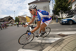 Blaz Jarc (SLO) of Adria Mobil after start in Sentjernej of the 4th stage of Tour de Slovenie 2009 from Sentjernej to Novo mesto, 153 km, on June 21 2009, Slovenia. (Photo by Vid Ponikvar / Sportida)