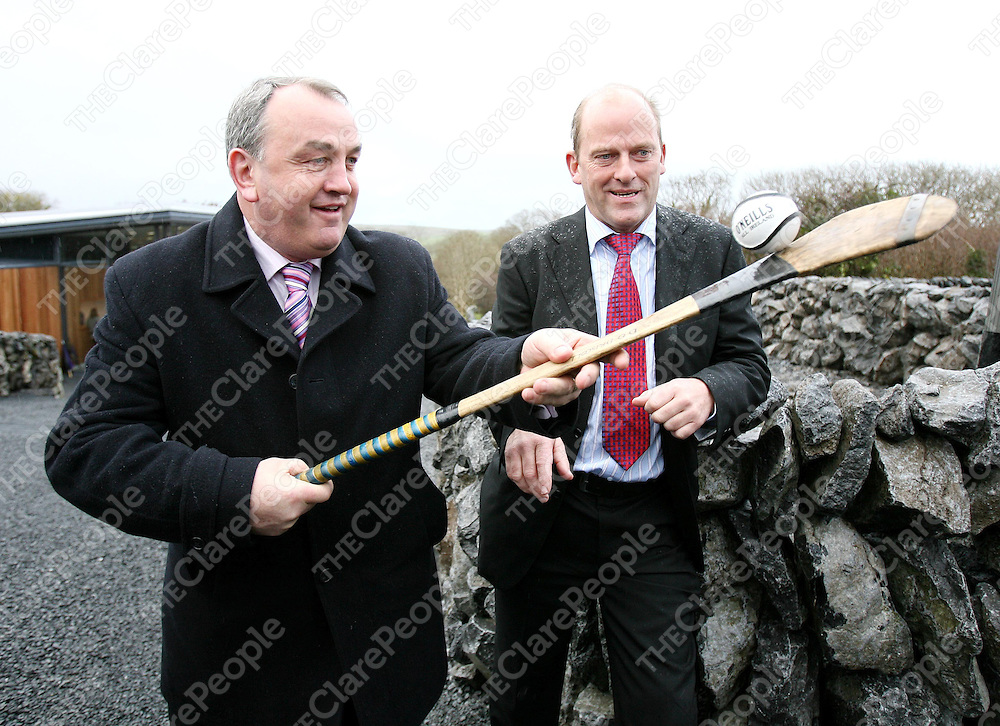 GAA President Nickey Brennan and Galway Manager Ger Loughnane at the Official Opening of the Michael Cusack Centre in Carron ,Co Clare today Tuesday.<br /><br />Photograph by Eamon Ward