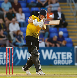 Gloucestershire's Miles Hammond pulls the ball<br /> <br /> Photographer Simon King/Replay Images<br /> <br /> Vitality Blast T20 - Round 8 - Glamorgan v Gloucestershire - Friday 3rd August 2018 - Sophia Gardens - Cardiff<br /> <br /> World Copyright © Replay Images . All rights reserved. info@replayimages.co.uk - http://replayimages.co.uk