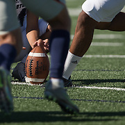 November 4, 2016; Fullerton Hornet kicker Jonathan Aguilar (60) attempts the extra shot during Orange Coast College vs Fullerton College at LaBard Stadium in Costa Mesa, CA. © photo by Catharyn Hayne/Sport Shooter Academy