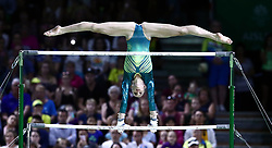 Australia's Georgia-Rose Brown on the Uneven Bars in the Floor Exercise during the Women's Team Final and Individual Qualification at the Coomera Indoor Sports Centre during day two of the 2018 Commonwealth Games in the Gold Coast, Australia.