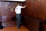 Oegstgeest, 28-05-2021, Cultuurhuis De Paulus<br /> <br /> Koning Willem Alexander en Koningin Maxima tijdens de 17e editie van NLdoet georganiseerd door het Oranje Fonds . Tijdens de grootste vrijwilligersactie van ons land kan iedereen op een laagdrempelige manier ervaren hoe mooi het is om iets voor een ander te doen. Op ruim 5.500 plekken in ons land kunnen mensen  meedoen  aan  NLdoet-klussen.FOTO: Brunopress/Patrick van Emst<br /> <br /> King Willem Alexander and Queen Maxima during the 17th edition of NLdoet organized by the Oranje Fonds. During the largest volunteer campaign in our country, everyone can experience in an accessible way how beautiful it is to do something for someone else. People can participate in NLdoet jobs at more than 5,500 places in our country.