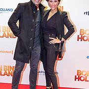 NLD/Amsterdam/20151207- Filmpremiere Bon Bini Holland, Tamar Gönen en partner Kristina Bozilovic