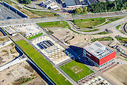 Nederland, Utrecht, Leidsche Rijn, 30-09-2015; noordelijke ingang van de Leidsche Rijntunnel. De bioscop annex evenementencentrum CineMec Utrecht (CineMec De Sterrenkijker) is boven op de tunnel gebouwd evenals het stadspark.<br /> Cinema and event centre build on top of land tunnel for motorway A2, near Utrecht.<br /> <br /> luchtfoto (toeslag op standard tarieven);<br /> aerial photo (additional fee required);<br /> copyright foto/photo Siebe Swart