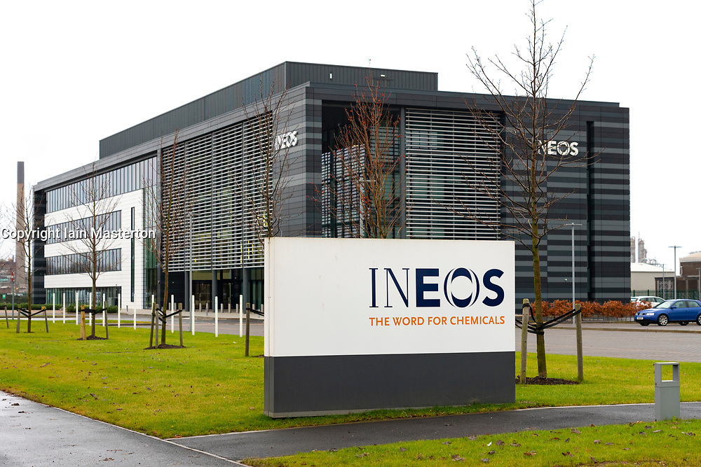 Office building of INEOS petrochemical company at Grangemouth in Scotland, UK