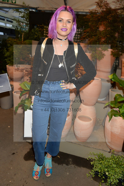 EMILY WELLER at a party to celebrate the launch of the Taylor Morris Eyewear's Summer Collection held at The Chelsea Gardner, 125 Sydney Street, London on 20th May 2015.