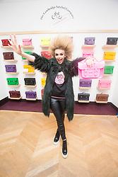 R&B singer Tallia Storm at The Cambridge Satchel Company store in Edinburgh.