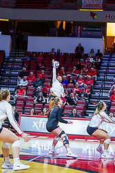 BLOOMINGTON, IL - November 22: Kendee Hillard during a college Women's volleyball match between the ISU Redbirds and the Sycamores of Indiana State on November 22 2019 at Illinois State University in Normal, IL. (Photo by Alan Look)