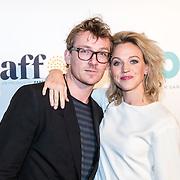 NLD/Amsterdam/20161005 - Filmpremiere Tonio, Floris Verbeij en partner Loes Haverkort