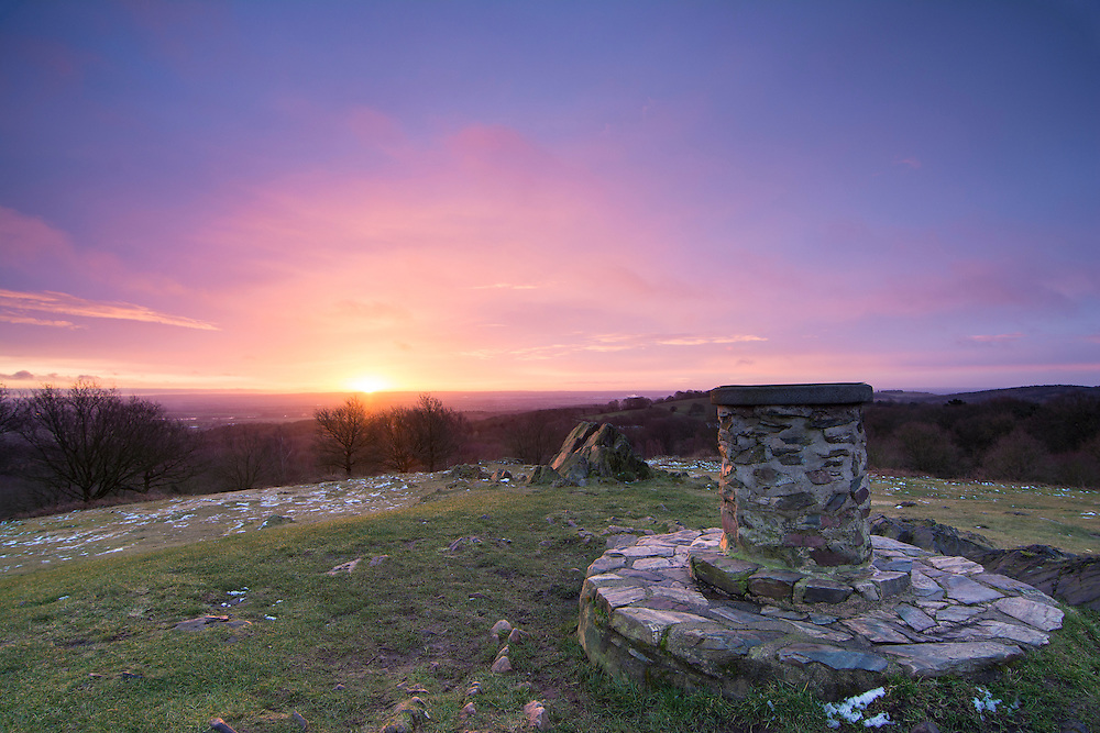 Winter sunrise over Beacon Hill, Leicestershire.