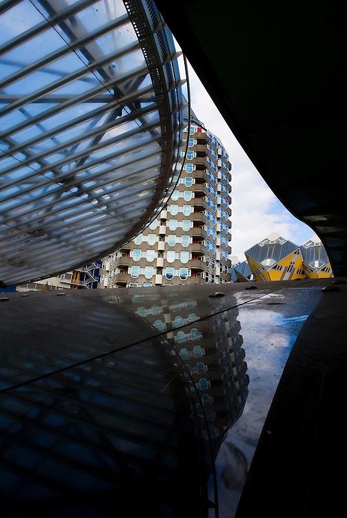 Nederland, Rotterdam, 13 april 2010.Kubuswoningen van Piet Blom..Foto (c)  Michiel Wijnbergh