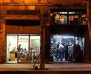 Traders after nightfall, Aleppo Streets, Syria