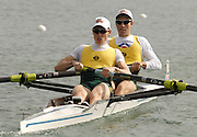 Munich, GERMANY, 2006, FISA, Rowing, World Cup, AUS LM2- , bow Tim Smith and Tim O'Callaghan , held on the Olympic Regatta Course, Munich, Thurs. 25.05.2006. © Peter Spurrier/Intersport-images.com,  / Mobile +44 [0] 7973 819 551 / email images@intersport-images.com.[Mandatory Credit, Peter Spurier/ Intersport Images] Rowing Course, Olympic Regatta Rowing Course, Munich, GERMANY