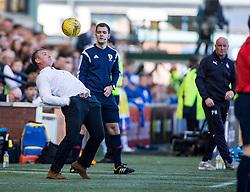 Kilmarnock's manager Lee Clark. Kilmarnock 4 v 0 Falkirk, second leg of the Scottish Premiership play-off final.