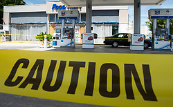 A gas station sits closed after running out of gas as residents prepare for the coming of hurricane Irma Friday, September 8, 2017 in Hollywood, FL, USA. Photo by /Paul Chiasson/CP/ABACAPRESS.COM