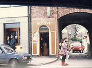 Old Dublin Amature Photos March 1983 WITH, Preretons Pawn Shop, Capel St, The Alcove, Ballsbridge, Donnollons Shop York Rd Dunlaire, Lodge BALLENTEER, Farm Gates, The Corner shop. Rathfarnham, School Inchicore, Quinns Butchers, Howth, young love,