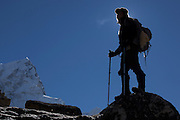 A trekker approaching Mt Everest base camp on the Khumbu glacier. Image by Greg Beadle Portraits captured by Greg Beadle in studio and on location