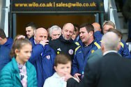 Burton Albion manager Nigel Clough and Accrington Stanley Manager John Coleman during the EFL Sky Bet League 1 match between Burton Albion and Accrington Stanley at the Pirelli Stadium, Burton upon Trent, England on 23 March 2019.
