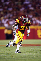 1 September 2007:  #9 David Ausberry of the USC Trojans college football team defeated the Idaho Vandals 38-10 at the Los Angeles Memorial Coliseum in CA.  NCAA Pac-10 #1 ranked team first game of the season.