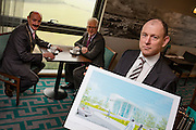 NO FEE PICTURES <br /> 14/2/16 Irish Life has announced that it plans to increase its presence in Dundalk, Co. Louth, with the building of a new Irish Life Customer Service Centre in Finnabair Business Park. The proposed new site area is 1.6 hectares with an office size of 45,000 sq. feet. The expansion announcement reinforces Irish Life's continued commitment to the local area and its employees based in Dundalk.<br /> Pictured is David Harney, Chief Excutive Irish Life (right) with Michael Gaynor, President Dundalk Chamber of Commerce and Fergus Dowd, Property Manager Irish Life.  Arthur Carron