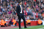 Aitor Karanka, the Middlesbrough manager looking on from the touchline. Premier league match, Arsenal v Middlesbrough at the Emirates Stadium in London on Saturday 22nd October 2016.<br /> pic by John Patrick Fletcher, Andrew Orchard sports photography.