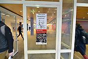 Nederland, Nijmegen, 4-3-2015Studenten voeren actie aan de RU.Actualiteitencollege met bestuursvoorzitter Gerard Meijer,  AKKU voorzitter Floor Albers van der Linden en de woordvoerder van de nieuwe universiteit Nijmegen, Mathias van Trigt.FOTO: FLIP FRANSSEN/ HOLLANDSE HOOGTE
