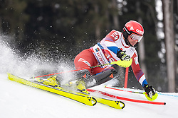 26.01.2020, Streif, Kitzbühel, AUT, FIS Weltcup Ski Alpin, Slalom, Herren, im Bild Alexander Khoroshilov (RUS) // Alexander Khoroshilov of Russian Federation in action during his run in the men's Slalom of FIS Ski Alpine World Cup at the Streif in Kitzbühel, Austria on 2020/01/26. EXPA Pictures © 2020, PhotoCredit: EXPA/ Johann Groder