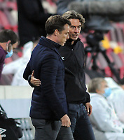 Football - 2020 / 2021 EFL Carabao Cup - Round 4 - Brentford vs Fulham - Brentford Community Stadium<br /> <br /> Brentford Manager Thomas Frank consoles Fulham Manager, Scott Parker at the final whistle<br /> <br /> COLPORSPORT/ANDREW COWIE