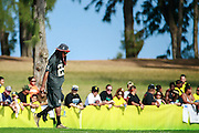 January 30 2016: Seattle Seahawks Richard Sherman arrives for the final Pro Bowl practice at Turtle Bay Resort on Oahu, HI. (Photo by Aric Becker/Icon Sportswire)