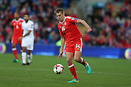 David Edwards of Wales in action. Wales v Georgia , FIFA World Cup qualifier, European group D match at the Cardiff city Stadium in Cardiff on Sunday 9th October 2016. pic by Andrew Orchard, Andrew Orchard sports photography