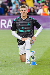 May 6, 2018 - Barcelona, Catalonia, Spain - Real Madrid midfielder Toni Kroos (8) before the match between FC Barcelona v Real Madrid, for the round 36 of the Liga Santander, played at Camp nou  on 6th May 2018 in Barcelona, Spain. (Credit Image: © Urbanandsport/NurPhoto via ZUMA Press)