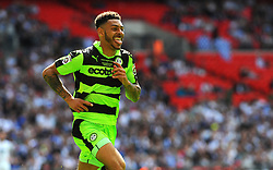 Kaiyne Woolery of Forest Green Rovers celebrates his  second goal  - Mandatory by-line: Nizaam Jones/JMP - 14/05/2017 - FOOTBALL - Wembley Stadium- London, England - Forest Green Rovers v Tranmere Rovers - Vanarama National League Final