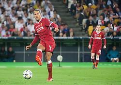 Virgil Van Dijk of Liverpool in action during the UEFA Champions League final football match between Liverpool and Real Madrid at the Olympic Stadium in Kiev, Ukraine on May 26, 2018.Photo by Sandi Fiser / Sportida