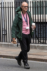 © Licensed to London News Pictures. 22/07/2020. London, UK. DOMINIC CUMMINGS, advisor to British Prime Minister Boris Johnson, is seen arriving at Downing Street in Westminster on the last day of Parliamentary business before the Summer holidays. Photo credit: Ray Tang/LNP