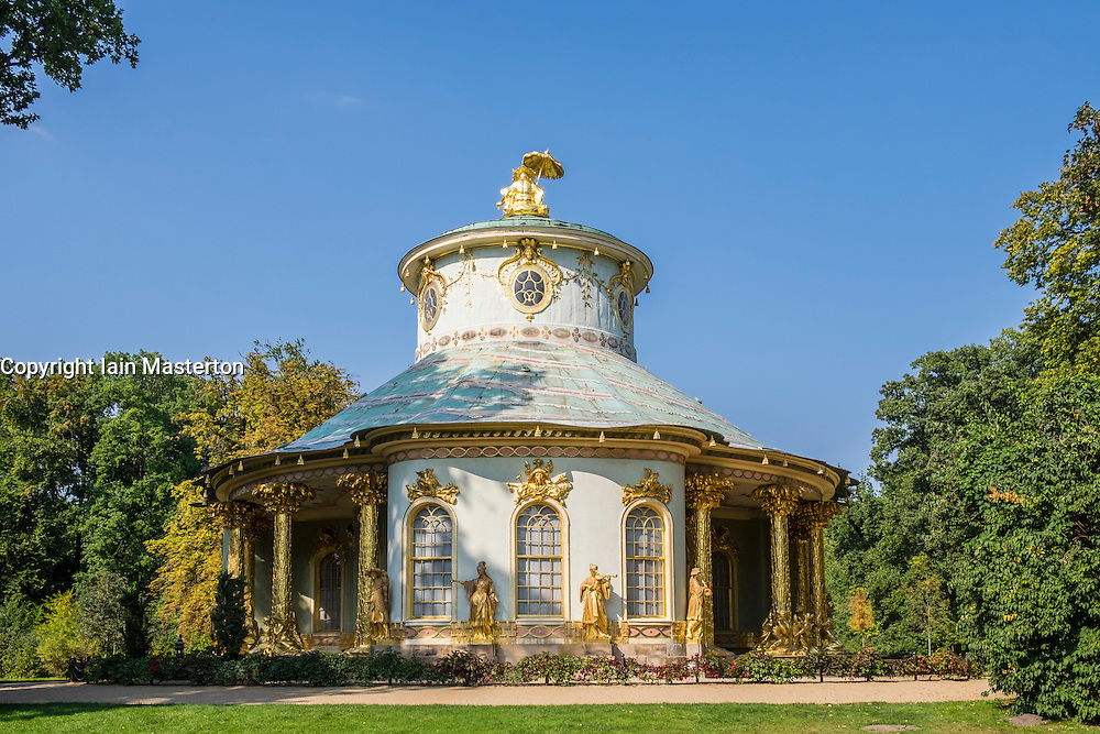 The Chinese Teahouse at Sanssouci Gardens Potsdam , Berlin, Germany a UNESCO World Heritage site