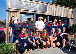 Bristol Ladies pose outside Park One Cafe for their prematch breakfast - Mandatory by-line: Robbie Stephenson/JMP - 18/09/2016 - RUGBY - Cleve RFC - Bristol, England - Bristol Ladies Rugby v Aylesford Bulls Ladies - RFU Women's Premiership