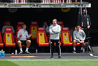 Football - 2019 / 2020 Premier League - Watford vs. Leicester City<br /> <br /> Leicester City manager Brendan Rodgers , at Vicarage Road.<br /> <br /> COLORSPORT/ASHLEY WESTERN