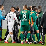 Bursaspor's coach Senol Gunes (2ndR) during their Turkish superleague soccer match Besiktas between Bursaspor at Ataturk Olimpiyat Stadium in Istanbul Turkey on Sunday 15 February 2015. Photo by Aykut AKICI/TURKPIX
