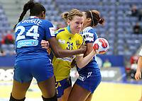 Håndball , <br /> Women`s European Handball  Championship<br /> 14.12.2010<br /> Håkons Hall , Lillehammer Norway<br /> Sweden  v France<br /> Foto:Dagfinn Limoseth ,  Digitalsport<br /> Anna-Maria Johansson   , SWE