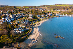 Aerial view from drone of Aberdour, Fife , Scotland, UK