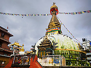 01 AUGUST 2015 - KATHMANDU, NEPAL: The stupa at Shree Gha in Kathmandu, Nepal.       PHOTO BY JACK KURTZ