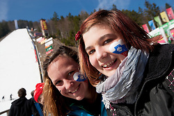 Young Fans of Slovenia during Flying Hill Individual Qualifications at 1st day of FIS Ski Jumping World Cup Finals Planica 2012, on March 15, 2012, Planica, Slovenia. (Photo by Vid Ponikvar / Sportida.com)