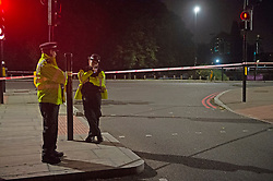 © Licensed to London News Pictures 18/09/2021. <br /> Kidbrooke, UK, A large police cordon is in place in Kidbrooke, South East London tonight after the body of a woman was found near a community centre. A man from Lewisham has been arrested on suspicion of murder. Photo credit:Grant Falvey/LNP