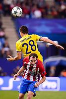 Atletico de Madrid's player Diego Godín and CF Rostov's player Andrei Prepelita during a match of UEFA Champions League at Vicente Calderon Stadium in Madrid. November 01, Spain. 2016. (ALTERPHOTOS/BorjaB.Hojas)