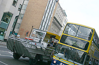 Dublin bus and Viking splash tour on Dame Street, Dublin, Ireland<br />