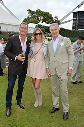 Left to right, TIM JEFFERIES, his wife MALIN and ARNAUD BAMBERGER at the Cartier hosted Style et Lux at The Goodwood Festival of Speed at Goodwood House, West Sussex on 26th June 2016.