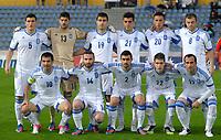 Fotball , 31. mai 2012<br /> Armenia - Hellas<br /> lagbilde<br /> Bild zeigt die Mannschaft von GRE mit Georgios Karagkounis, Dimitrios Salpangidis, Ionannis Maniatis, Konstantinos Fortounis, Theofanis Gkekas, Kyriakos Papadopoulus (hinten); Michail Sifakis,  Sokratis, Konstantinos Katsouranis, Chose Cholevas und Avraam Papadopoulus (GRE). <br /> Norway only