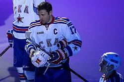 Ilya Kovalchuk of SKA during ice-hockey match between KHL Medvescak Zagreb vs SKA in KHL league, on October 2, 2016, in Dom Sportova, Zagreb, Croatia. Photo by Matic Klansek Velej / Sportida.